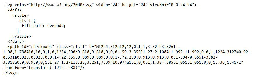 checkmark svg code